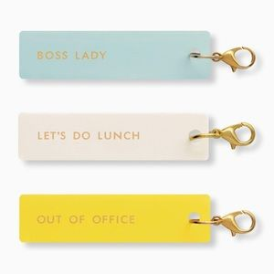 🆕 Kate Spade ♠️ Boss Lady Planner Charm Set